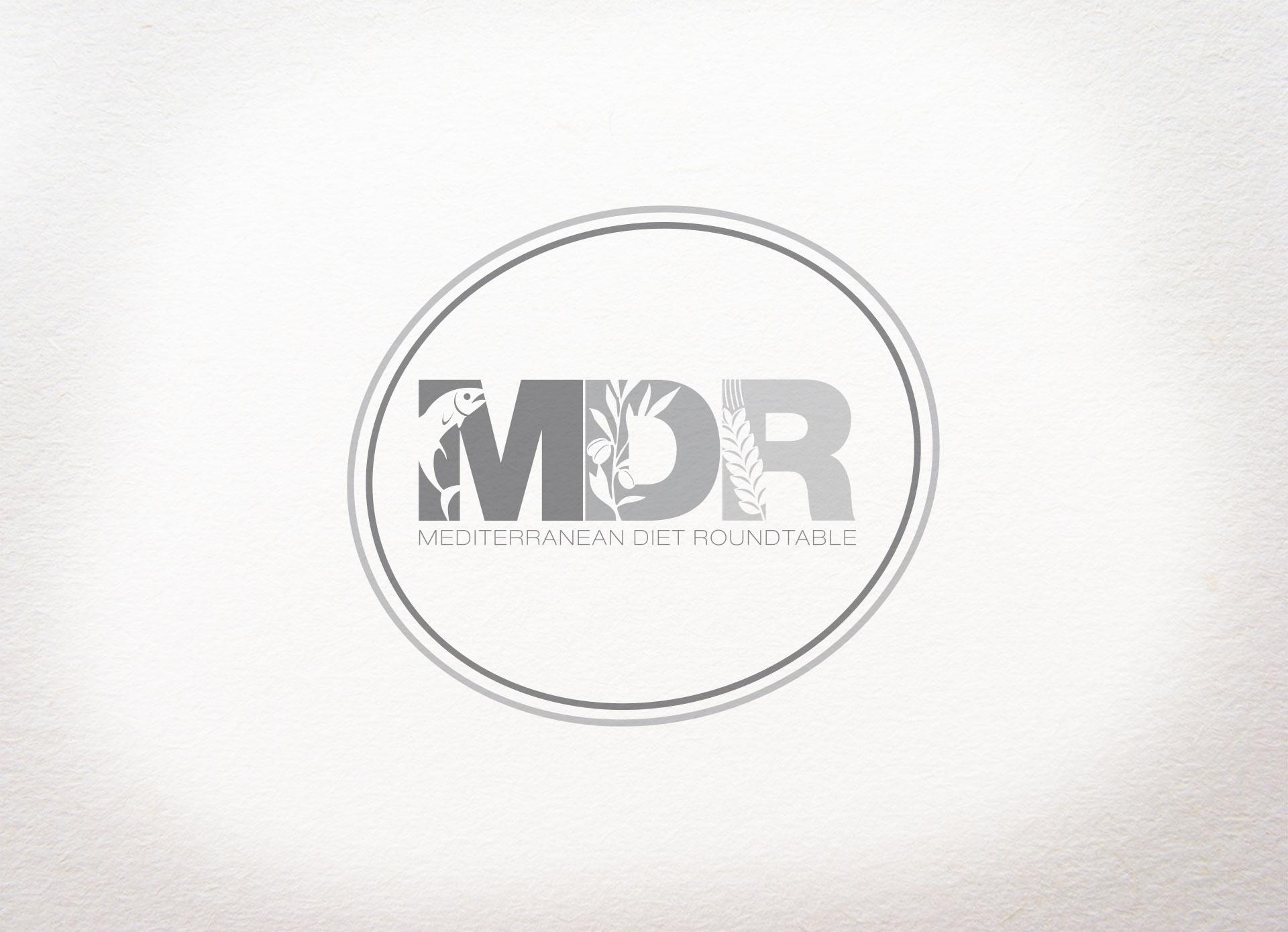 Logo design, web design, corporate identity, visual identity per Mediterranean Diet Roundtable realizzato da Grafica Manent