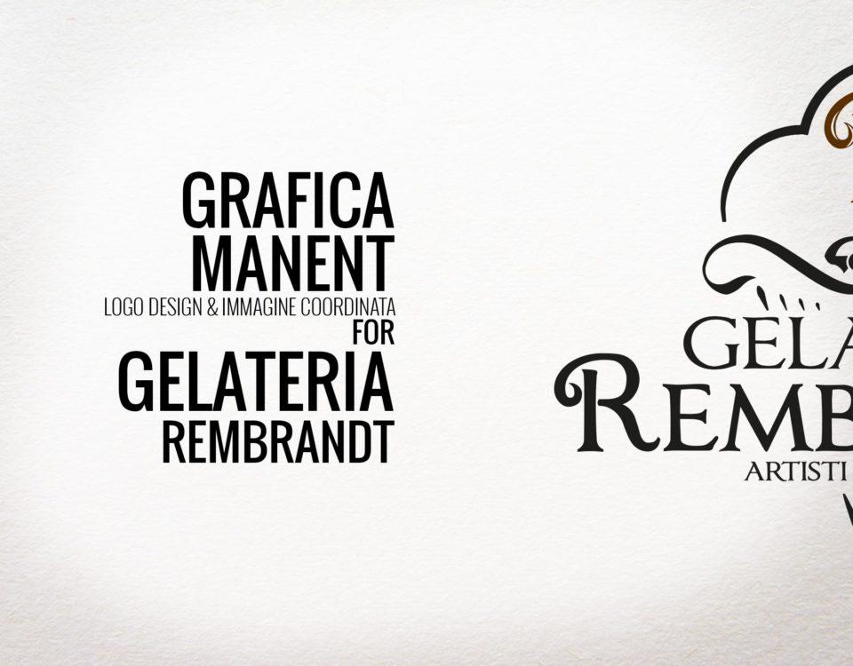 Logo design per Gelateria Artigianele Rembrand Milano realizzato da Grafica Manent