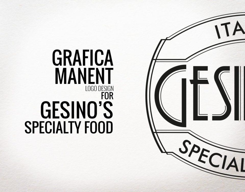 Grafica Manent | logo deisgn per Gesino's Specialty Food