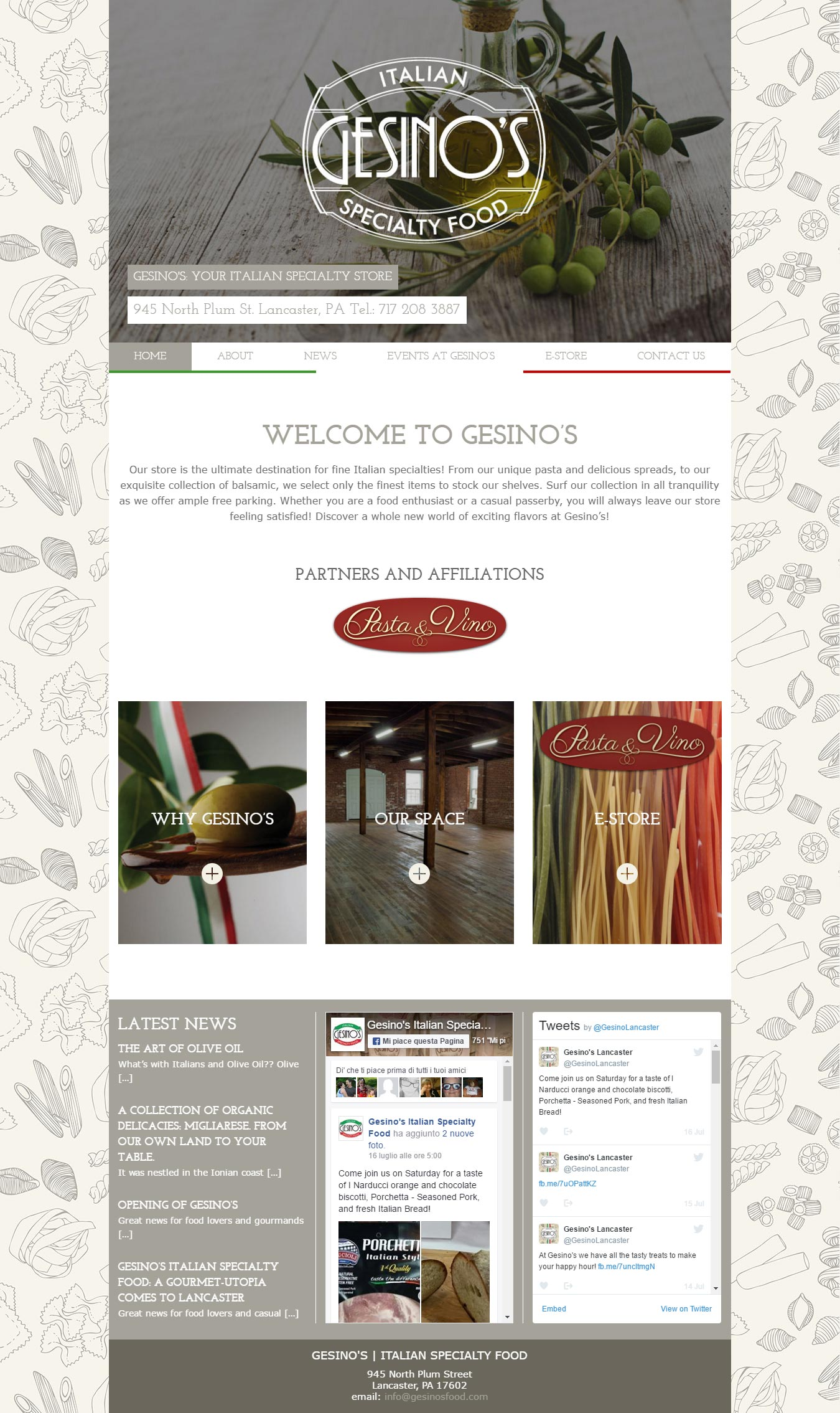 gesinosfood-homepage